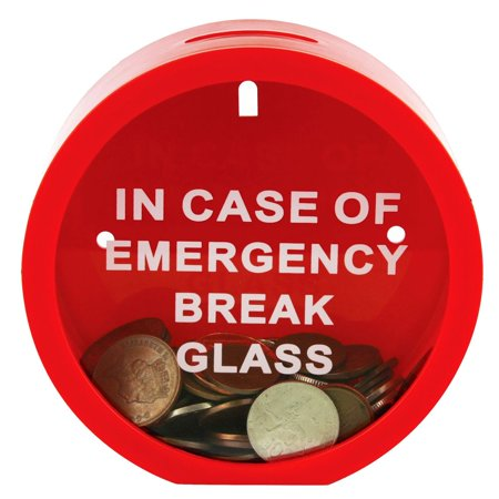 Emergency Money Box - In Case Of Emergency Break Glass Break Glass Money Box