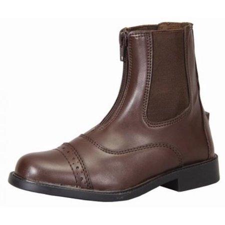 Front Zip Boots - TuffRider Children's Front Zip Paddock Boots, Mocha, 12