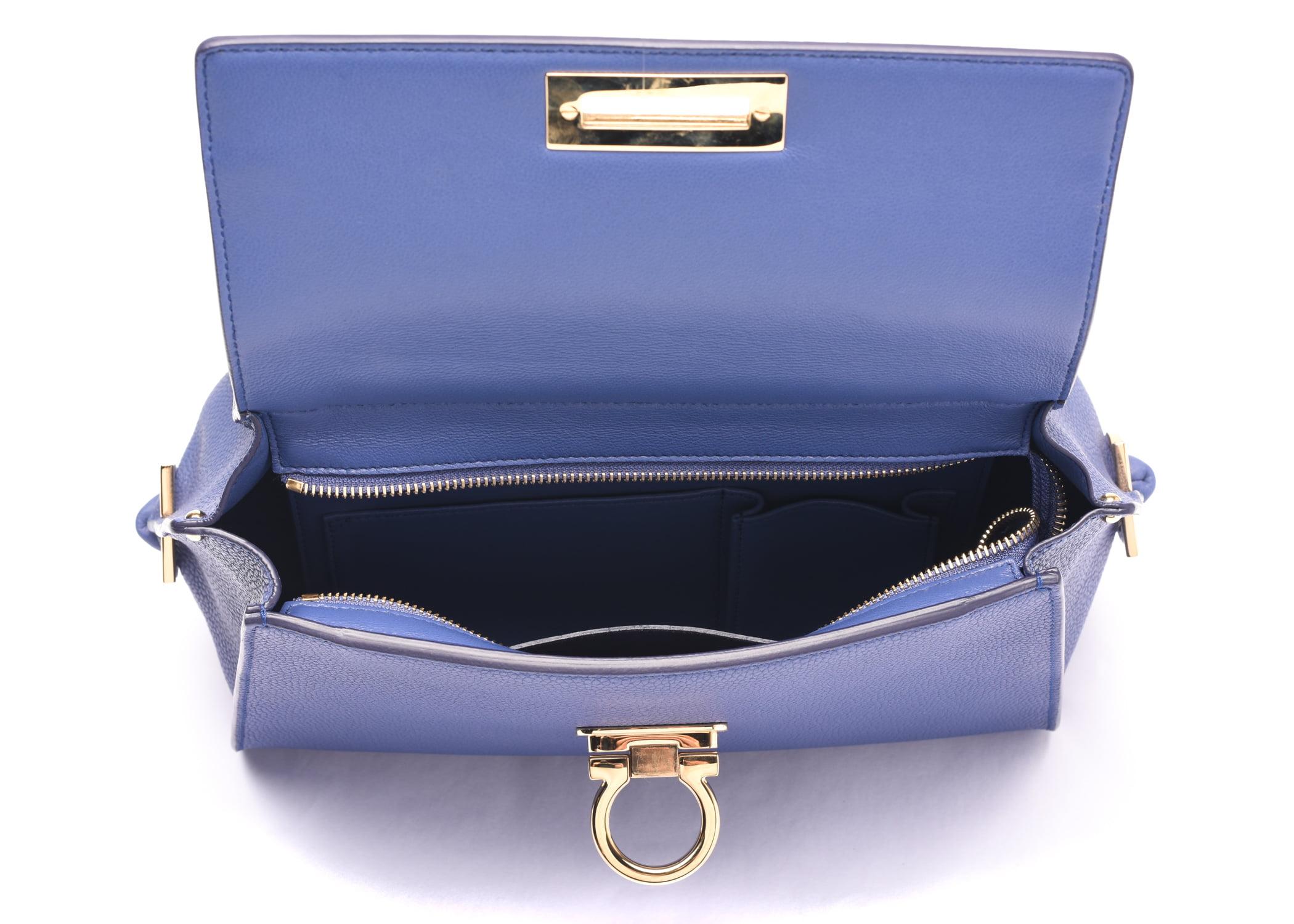 6dba0ee08efa Salvatore Ferragamo - Salvatore Ferragamo Sofia Leather Satchel Handbag 21  E530 22 Blue - Walmart.com