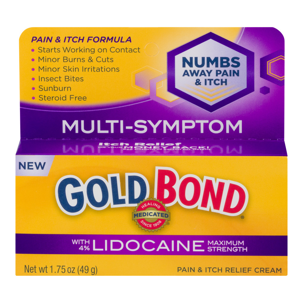 Gold Bond Pain & Itch Relief Cream with Lidocaine Maximum Strength, 1.0 CT