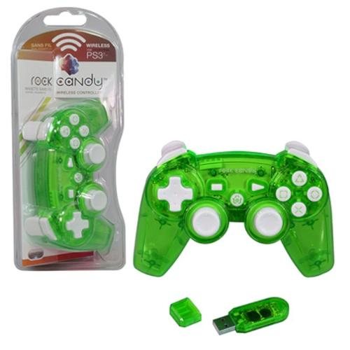 PDP PlayStation 3 Rock Candy Wireless Controller, Green