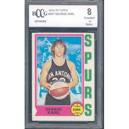 1974 75 Topps  257 George Karl Spurs Rookie Bgs Bccg 8