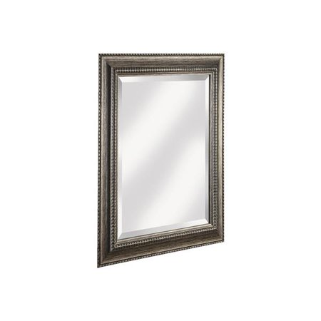 erias home designs antique pewter traditional framed wall mirror