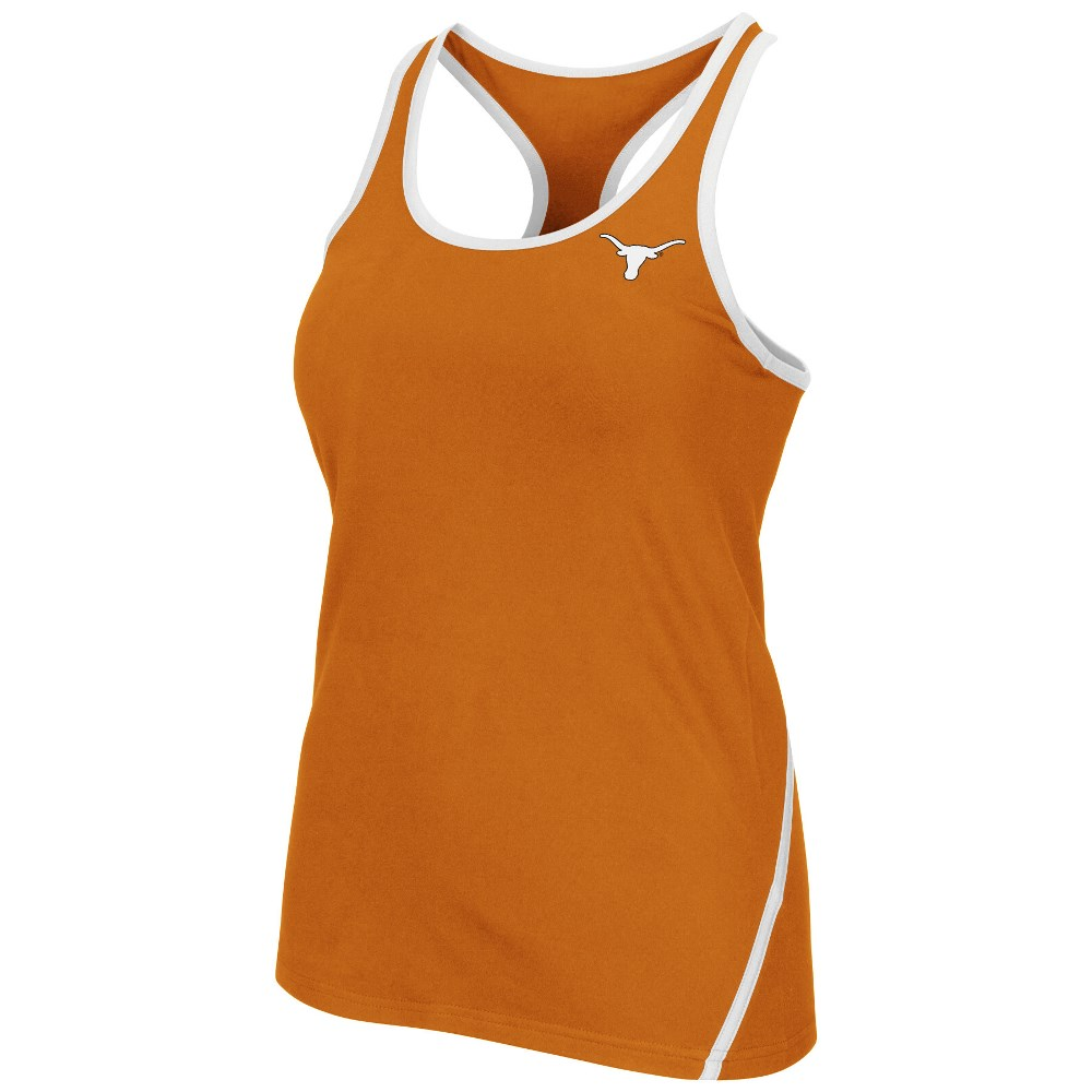 "Texas Longhorns Women's NCAA ""Rapid"" Performance Racer Back Tank Top by Colosseum"