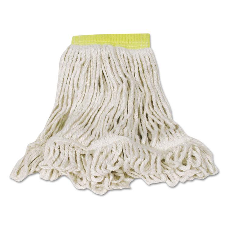 Super Stitch Blend Mop, Cotton/synthetic, Small, White, 6/carton