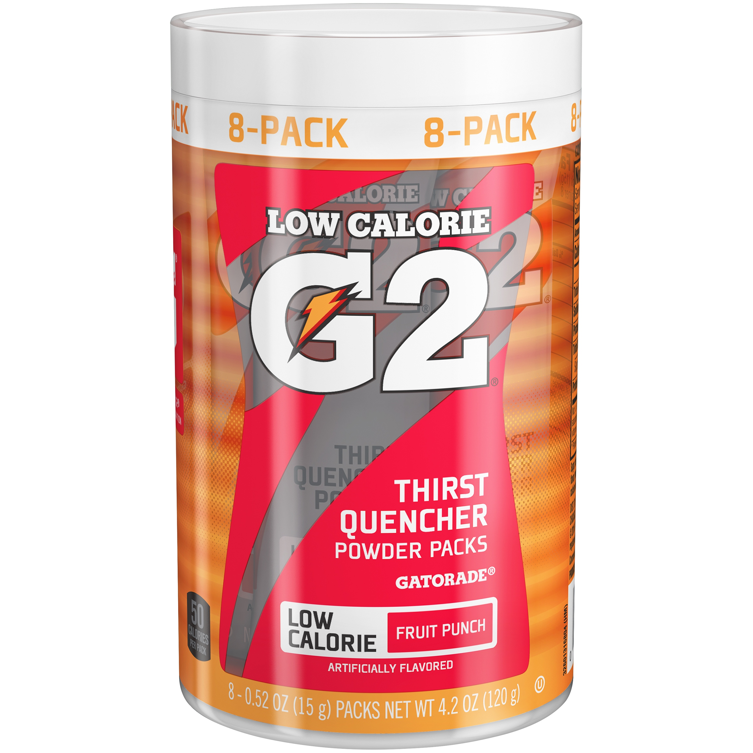 G2® Low Calorie Fruit Punch Thirst Quencher Powder Packs 8-0.52 oz. Packs