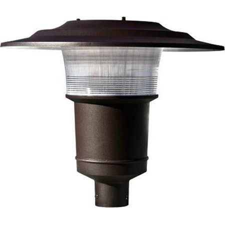 Dabmar Lighting GM655-BZ Powder Coated Cast Aluminum Architectural Post Top Light Fixture, Bronze - 19.50 x 23.13 x 23.13 in. Bronze Post Top