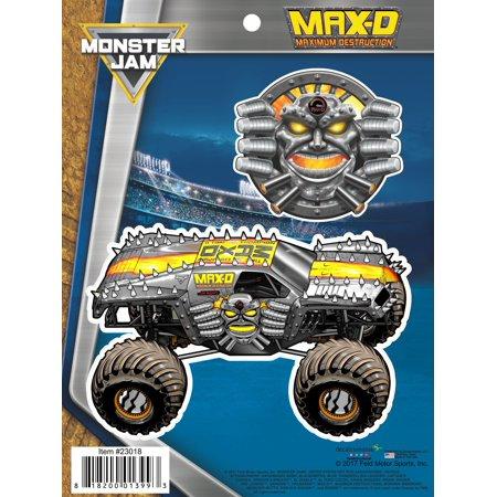 Monster jam max d maximum destruction truck decals car auto stickers