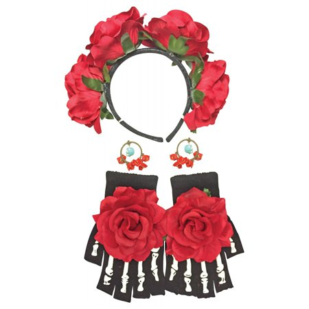 Day of The Dead Female Kit Adult (Day Of The Dead Costums)