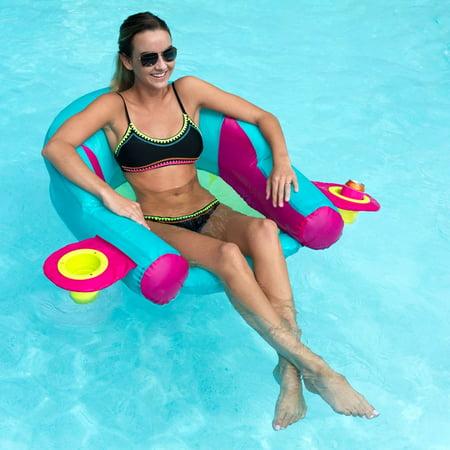 - SwimWays AquaLinx Pool Float, Aqua Pink