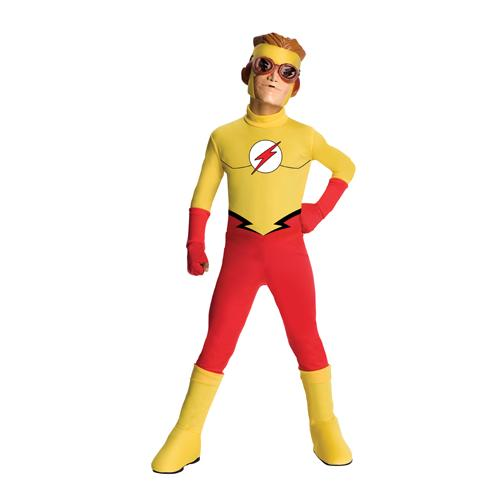 Boys Young Justice Kid Flash Costume Size Medium 8-10