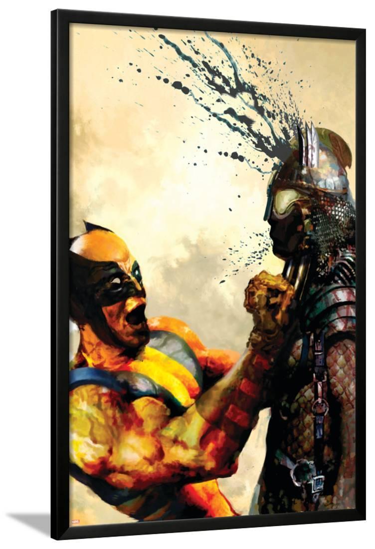A3 Framed Poster Wolverine Iron Man Print