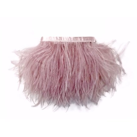 1 Yard - Taupe Ostrich Fringe Trim Wholesale Feather (Bulk) - Bulk Feathers