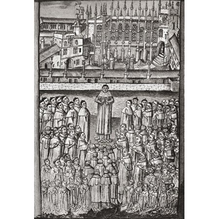 College Party Pics (New College, Oxford, England And Its One Hundred Clerks C.1453. From The Book Short History Of The English People By J.R. Green, Published London 1893 Poster Print by Ken Welsh)