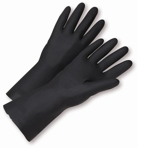 Large Flock Lined Neoprene Gloves Black Dozen by West Chester