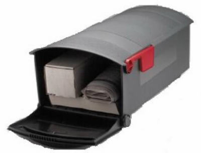 Gibraltar Patriot Large, Plastic, Black Post Mount Mailbox by Solar Group