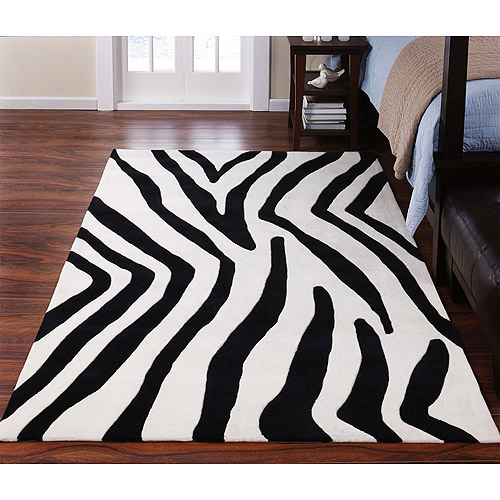 Zebra Rug, Black and White