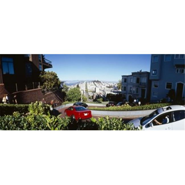 Panoramic Images PPI106948L Cars on a street  Lombard Street  San Francisco  California  USA Poster Print by Panoramic Images - 36 x 12 - image 1 of 1