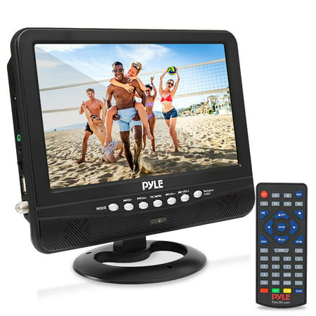 "PYLE PLTV9553 - 9"" Portable TV Tuner Monitor Display Screen with Built-in Rechargeable Battery, USB/Micro SD Readers (Analog ATSC/DTV"