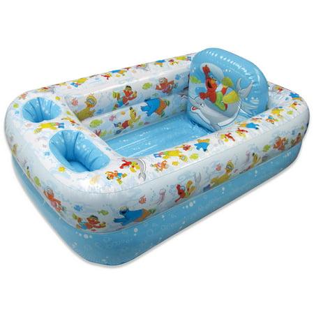 Ginsey Inflatable Bathtub, Sesame Street - Walmart.com
