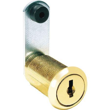 COMPX NATIONAL C8053-C642A-3 Disc Tumbler Cam Lock,Brass,Key C642A