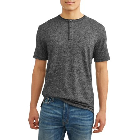 George Men's Short Sleeve Fashion Henley, Up to size 5XL