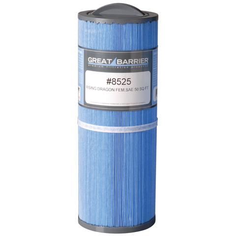 Hot Tub Great Barrier Filter Cal Spa/Rising Dragon Single Replacement Filter HTCP8525 -