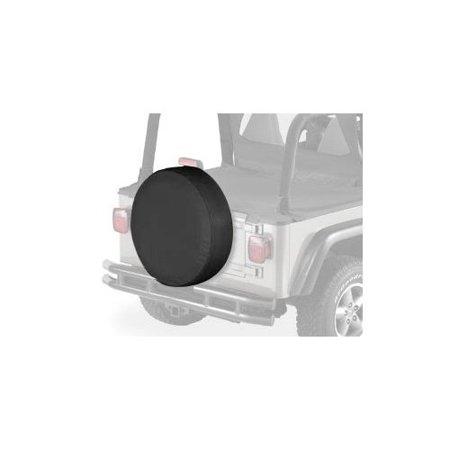 "Bestop 61030-15 30"" x 10"" Black Denim Tire Cover"