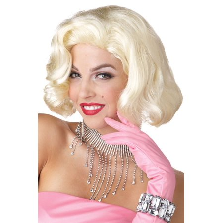 Diamonds Marilyn Costume Wig (Blonde) - Costume With Blonde Wig