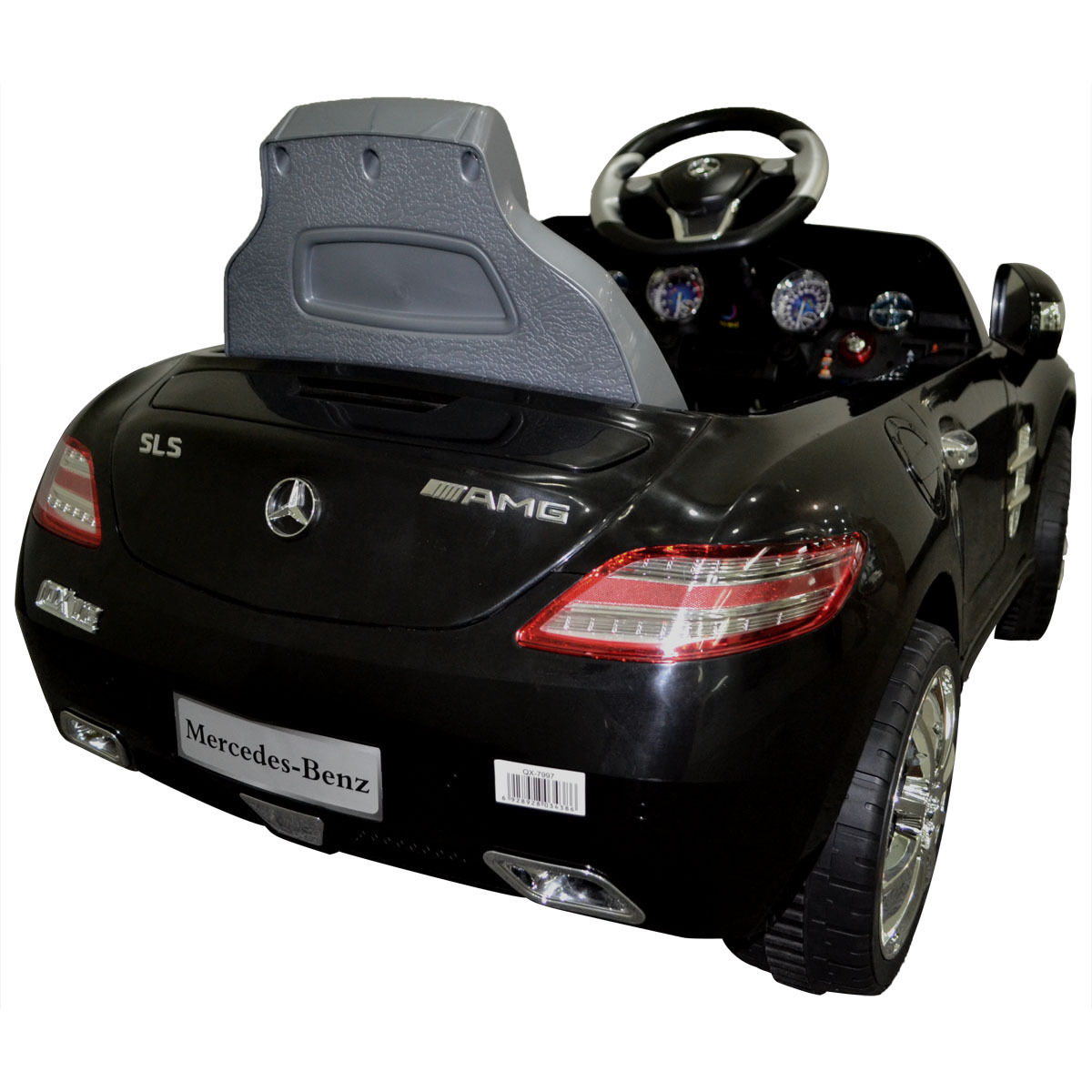 costway black mercedes benz sls rc mp3 kids ride on car electric battery toy walmartcom