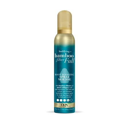 Hair Bamboo (OGX Bodifying + Bamboo Fiber Full Root Boosting Spray Mousse 7.75oz )