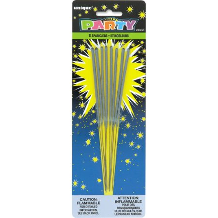 Unique Industries 8 7 in. Party Sparklers (Pack of 2) (Unique Industries Party Supplies)