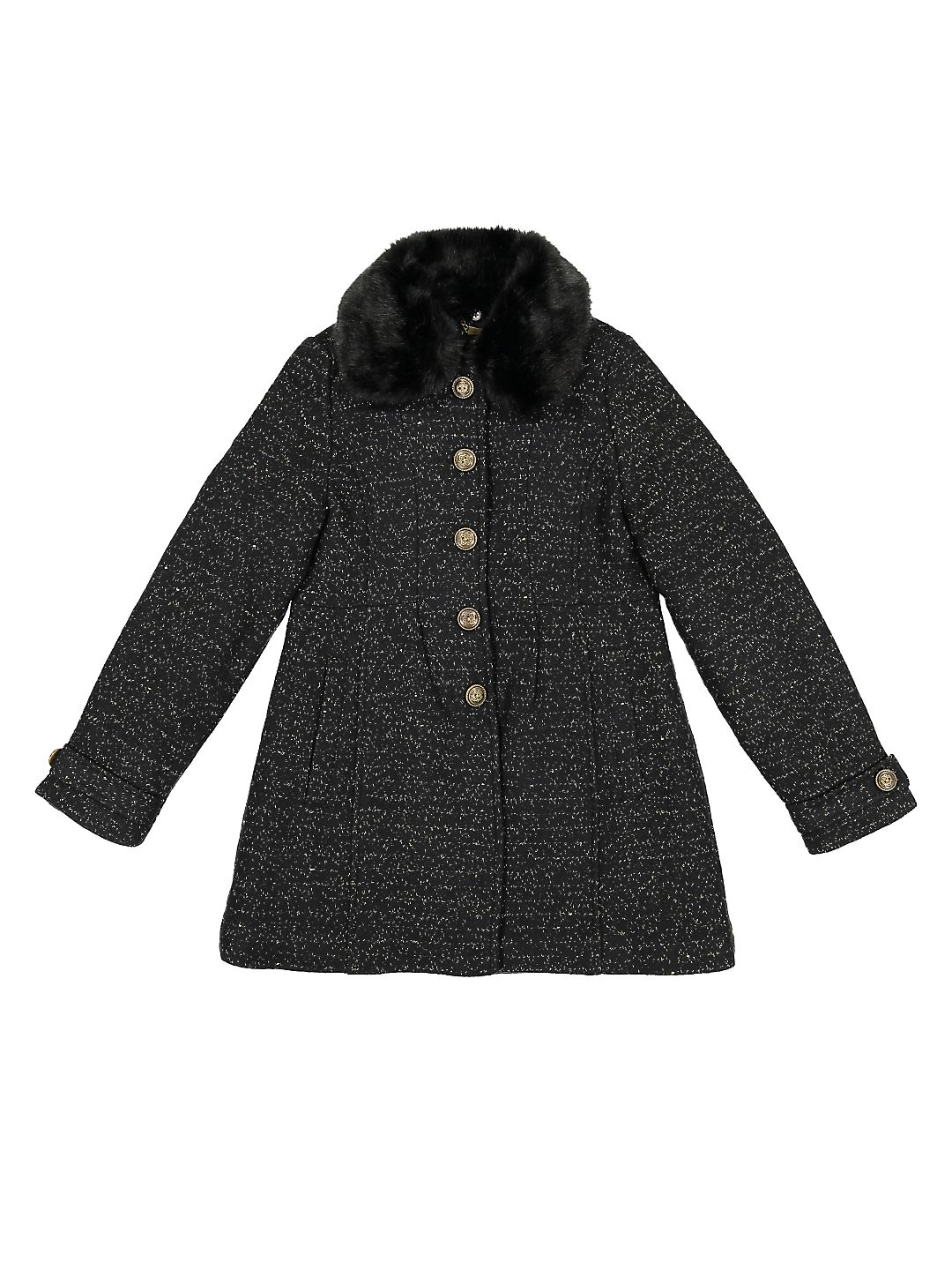 Little Girl's Graphic Faux Fur Jacket