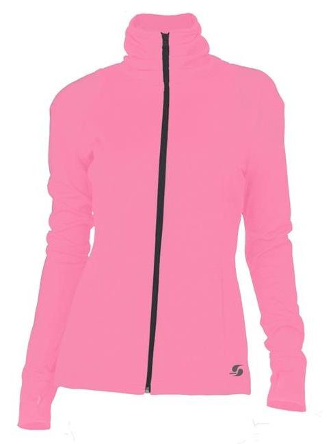 Soffe 5534V685LRG Juniors Nu Wave Mock Polyester Pique Jacket, Cotton Candy - Large