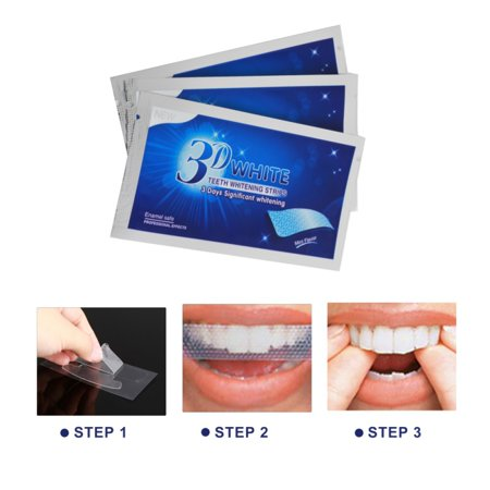 Teeth Whitening Strips, Dental Enamel Safe Teeth Bleaching Treatment for Crystal Smile Non-Peroxide Whitener Kit Professional Remover of Teeth Stain Mint Flavor (Best Way To Strip Stain)