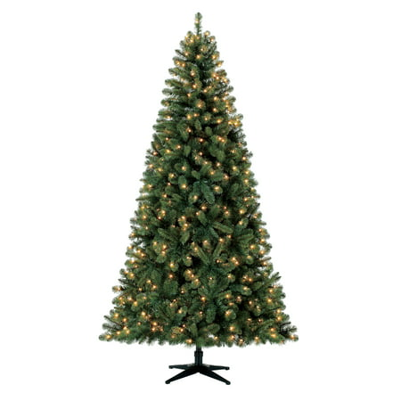 Holiday Time Pre-Lit 7.5' Kennedy Fir Artificial Christmas Tree, Clear-Lights ()