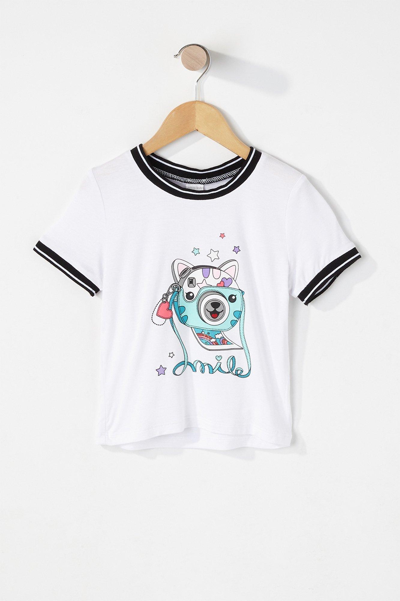 03a9444dfe6 Urban Kids Toddler Girl s Toddler Girl Graphic Ringer T-Shirt