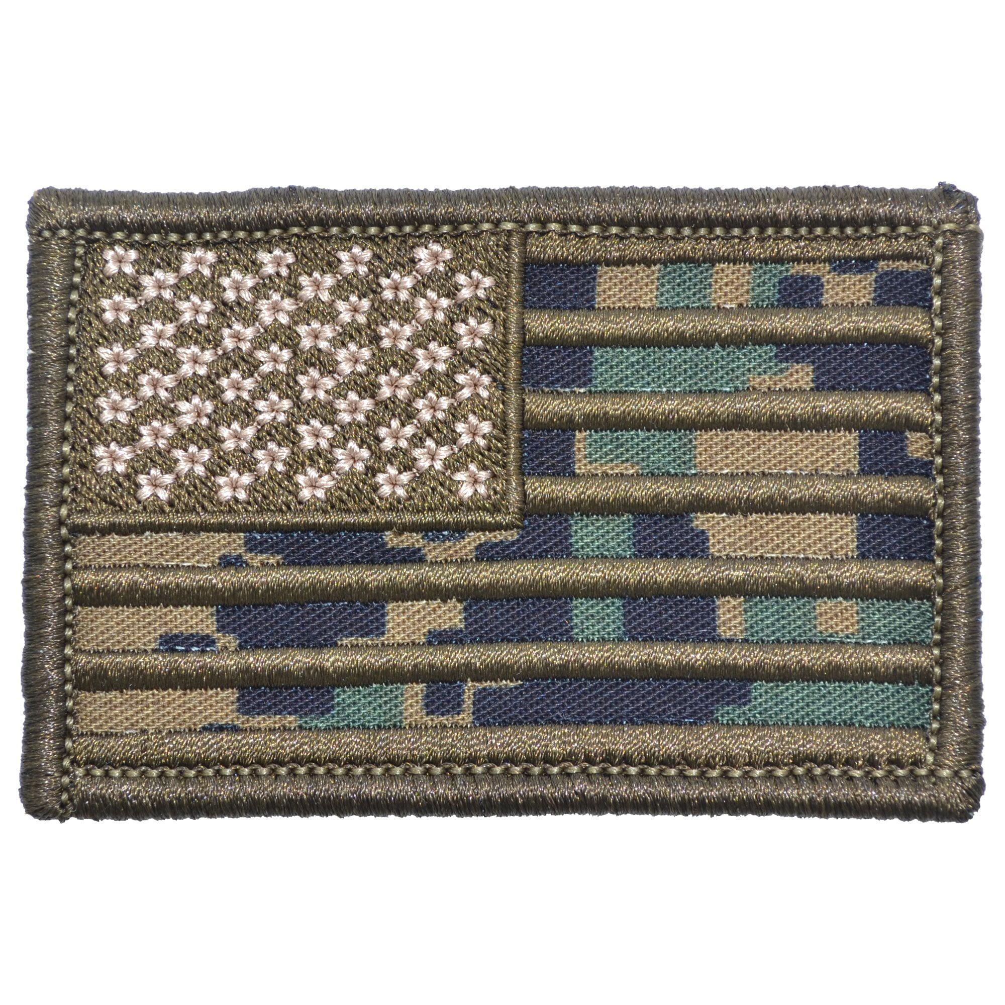 MARPAT Woodland USA Camo Flag - 2x3 Patch