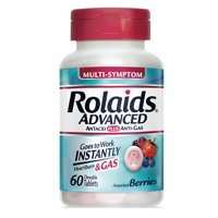 Rolaids Advanced Antacid, Anti Gas Tablets (60 Ct, Mixed Berry)