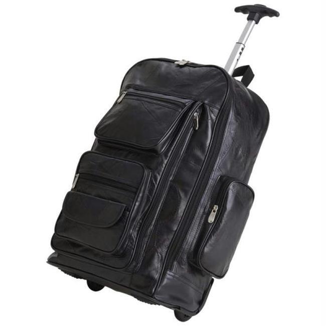 Embassy Italian Stone Design Genuine Leather 24 inch Trolley Bag