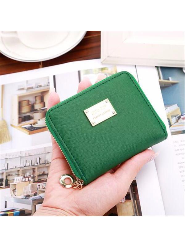 Fashion Women Short Wallet Card Holder PU Leather Coin Bag Money Purse Handbag