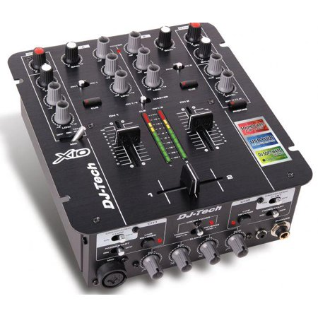 Dj Tech Professional 2 Channel Mixer W Integrated Usb Soundcard