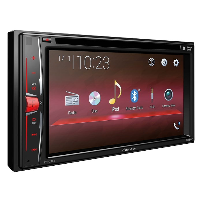 """Pioneer AVH-201EX DVD Receiver with 6.2"""" WVGA Display and Built in Bluetooth by Pioneer"""