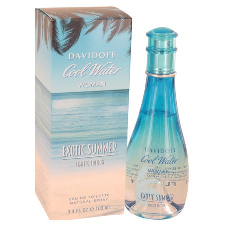 Cool Water Exotic Summer Perfume By Davidoff 34 Oz Eau De Toilette