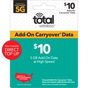 Total Wireless $10 Add-On Carryover 5GB Data Direct Top Up