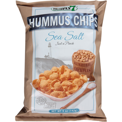 Simply 7 Seas Salt Hummus Chips, 5 oz, (Pack of 12)