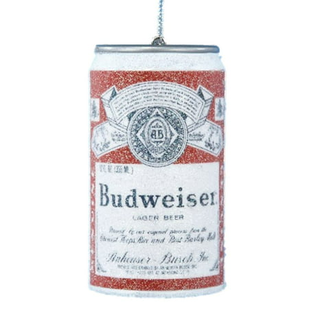 Budweiser Christmas Ornament Replica Beer Can