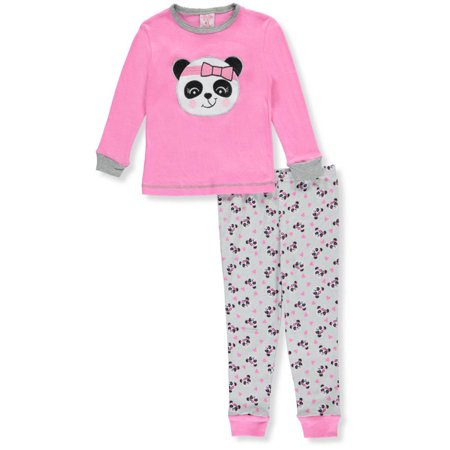 Mon Petit Little Girls Toddler  Sleepy Panda  2 Piece Pajamas  Sizes 2T   4T