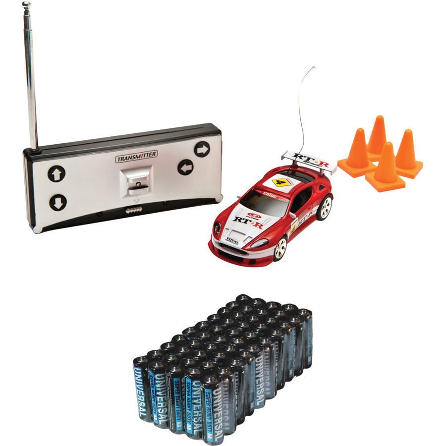 Cobra RC Toys L99121 Remote-Control Mini Race-Car-in-a-Can and Super Heavy-Duty Battery Value Box