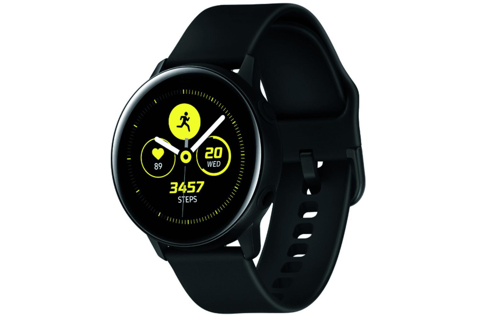 859998dd84 SAMSUNG Galaxy Watch Active - Bluetooth Smart Watch (40mm) Black -  SM-R500NZKAXAR - Walmart.com